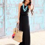 Maxi vestidos color negro