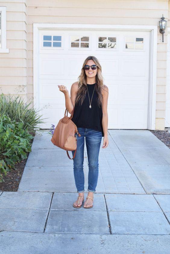Outfits básicos con jeans para el verano